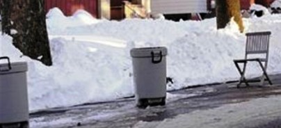trash can snow - pittsburgh post -gazette