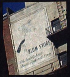 Blum Store Sign