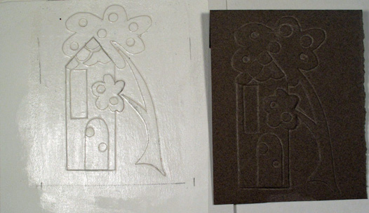 Embossing Example dark paper